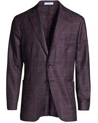 Boglioli Windowpane-check Sportcoat - Blue
