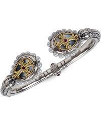 Konstantino - Sterling Silver/18k Yellow Gold Multi-stone Bracelet - Lyst