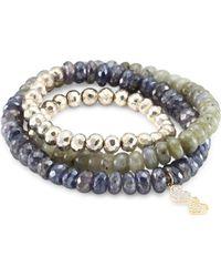 Sydney Evan - Diamond & Multi Semi-precious Strone Wrap Bracelet - Lyst