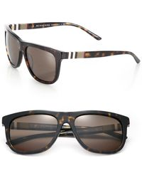 734bfb18156 Lyst - Burberry 59mm Pilot Sunglasses in Metallic for Men
