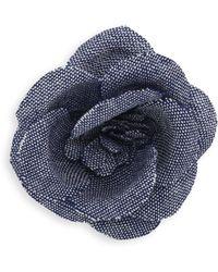 Hook + Albert - Rose Tie Pin - Lyst
