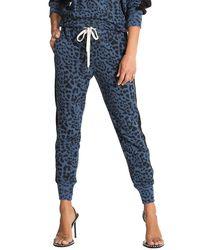 n:PHILANTHROPY Barkley Leopard Print Sweatpants - Blue