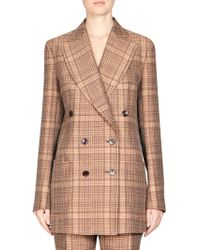 Dries Van Noten | Prince Of Wales Long Check Jacket | Lyst