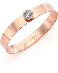 Phillips House - Affair Infinity Love Always Diamond & 14k Rose Gold Bangle Bracelet - Lyst
