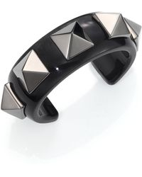 Valentino - Studded Acrylic Cuff Bracelet - Lyst