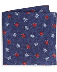 Saks Fifth Avenue - Collection Scattered Floral Pocket Square - Lyst