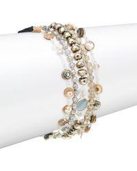 Chan Luu - Abalone Mix Stone Bracelet - Lyst