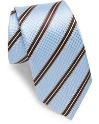 Ike Behar - Blue & Brown Stripe Tie - Lyst