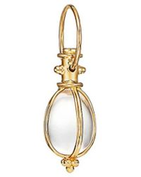 Temple St. Clair Classic Rock Crystal & 18k Yellow Gold Amulet - Metallic