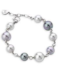 Majorica Exquisite Faux-pearl Sterling Silver Bracelet - Metallic