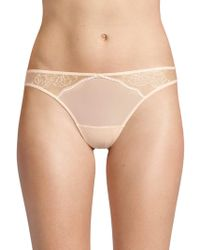 Natori - Ethereal Lace Thong - Lyst