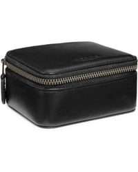 COACH Small Leather Travel Case - Black