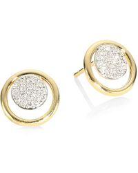 Phillips House Affair Diamond Micro Infinity Loop Stud Earrings - Metallic