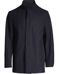 Theory Clarence Virgin Wool Coat - Multicolor