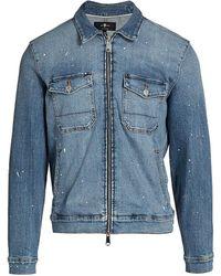 7 For All Mankind Calypso Zip-front Denim Jacket - Blue