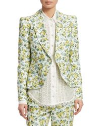 Zimmermann - Golden Fitted Blazer - Lyst