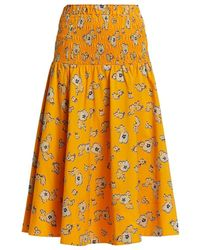 Tanya Taylor - Lyla Smocked Skirt - Lyst