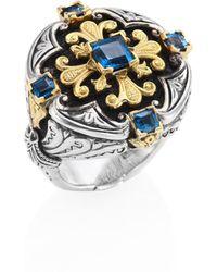 Konstantino - Nemesis London Blue Topaz Ring - Lyst