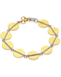 Gurhan Lush Diamond, 24k Yellow Gold & 18k White Gold Bracelet - Metallic