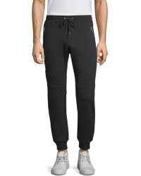 The Kooples - Knee-patch Cotton Joggers - Lyst