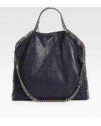 Stella McCartney - Shaggy Deer Falabella Fold-over Small Tote - Lyst