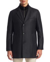 Saks Fifth Avenue - Collection Notch Wool Topcoat - Lyst