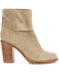 Rag & Bone Newbury 2.0 Suede Ankle Boots - Natural