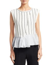 3.1 Phillip Lim - French Terry Cotton Top - Lyst