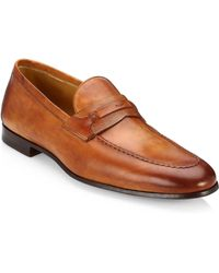 Saks Fifth Avenue Collection By Magnanni Tri-media Penny Loafers - Brown