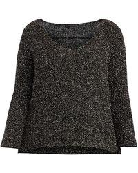 Marina Rinaldi Lurex Metallic Pullover - Black