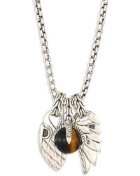 John Hardy - Classic Chain Tigers Eye & Sterling Silver Pendant Necklace - Lyst