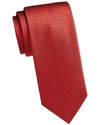 Brioni Brioni Polka Dot Silk Tie Red