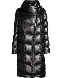 Donna Karan Funnel-neck Down Coat - Black