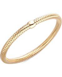 Roberto Coin | Primavera Diamond & 18k Yellow Gold Woven Bracelet | Lyst