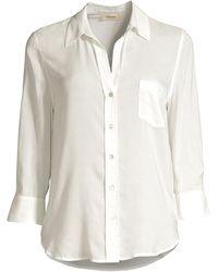 L'Agence Ryan Three-quarter Sleeve Blouse - White