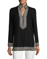 Tory Burch - Embellished Linen Tunic - Lyst