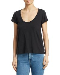 Rag & Bone - Scoop Neck Tee - Lyst