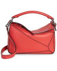 Loewe Puzzle Small Bag Scarlet Red