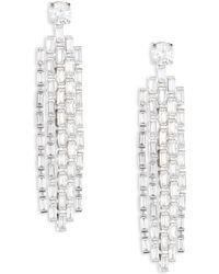 Fallon - Monarch Deco Waterfall Earrings - Lyst