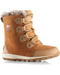 Sorel - Kid's Whitney Suede & Faux Fur Boots - Lyst