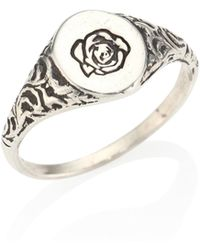Cast Of Vices - 0.925 Silver Engraved Flower Ring - Lyst