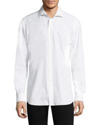 Luciano Barbera - Cotton Dress Shirt - Lyst