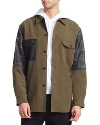 McQ - Oversized Patchwork Military Jacket - Lyst