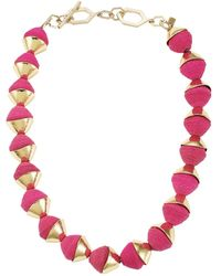 Akola Single Strand Raffia Necklace - Multicolor