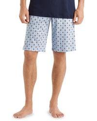 Hanro 2-piece Short-sleeve Pajama Set - Blue