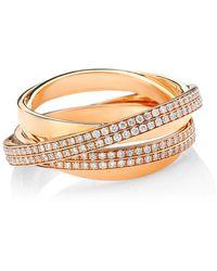 Repossi Berbere 18k Rose Gold & Pavé Diamond Ring - Metallic