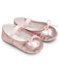Bloch - Baby's Arabella Metallic Ballet Flats - Lyst