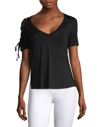 Feel The Piece - Amy Lace-up T-shirt - Lyst