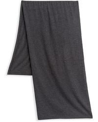 Saks Fifth Avenue Reversible Cashmere Scarf - Gray