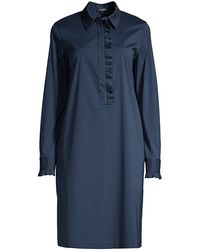 Lafayette 148 New York Fiona Shift Dress - Blue